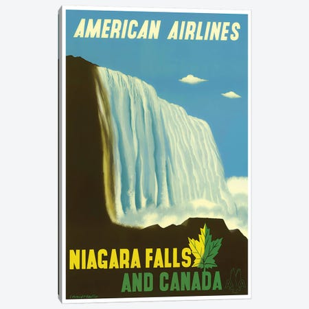 Niagara Falls And Canada Canvas Print #LIV239} by Unknown Artist Art Print