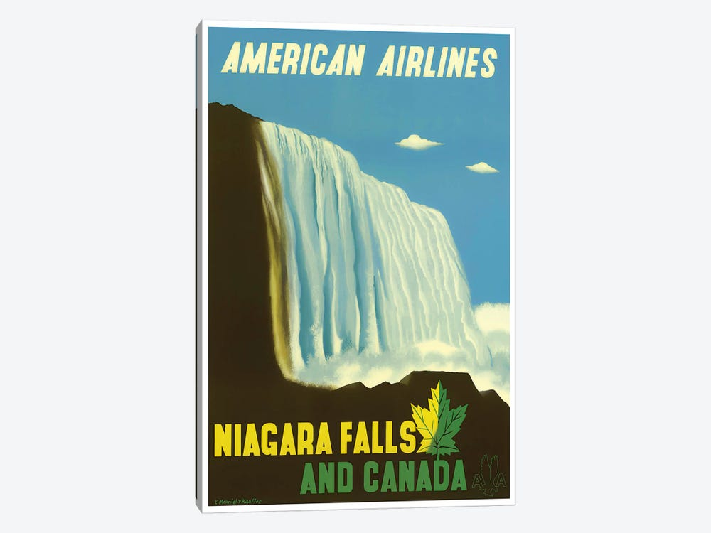Niagara Falls And Canada 1-piece Canvas Wall Art