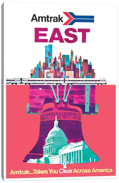 Amtrak East: Amtrak…Takes You Clear Across America Canvas Art Print