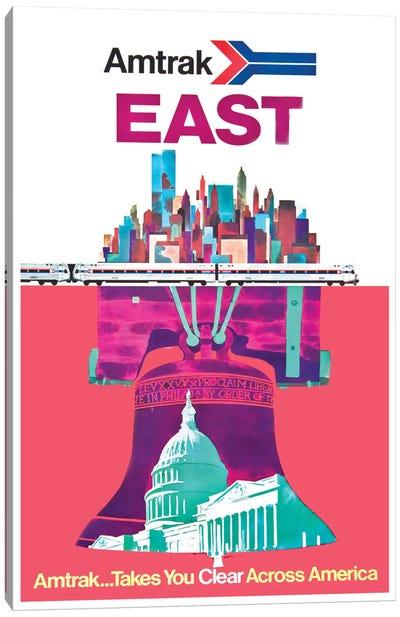 Amtrak East: Amtrak…Takes You Clear Across America Canvas Art Print