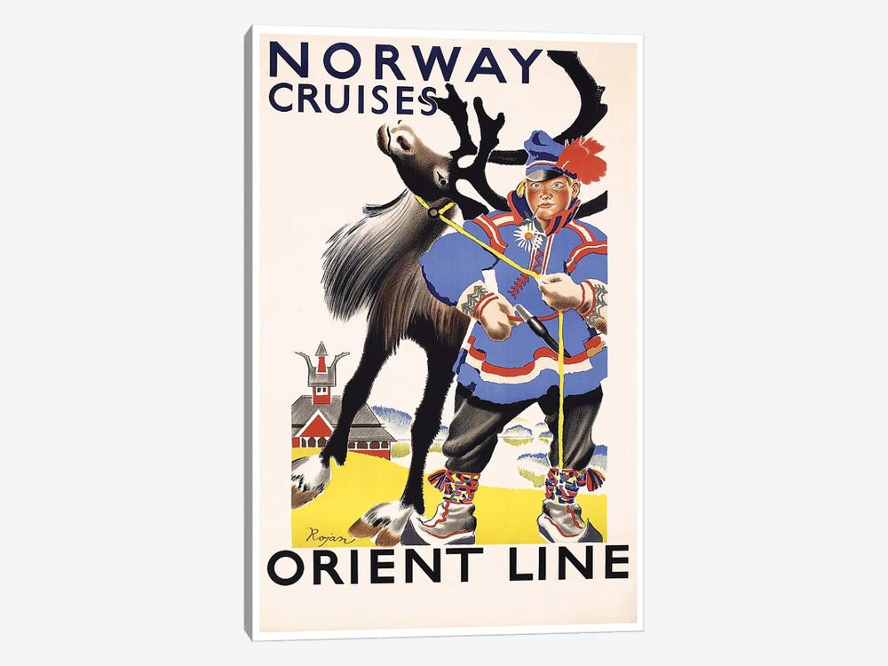 Norway Cruises, Orient Line 1-piece Art Print