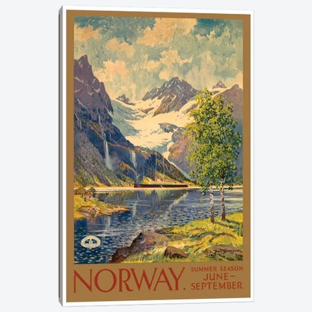 Norway: Summer Season, June-September Canvas Print #LIV242} by Unknown Artist Canvas Artwork