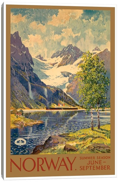 Norway: Summer Season, June-September Canvas Art Print
