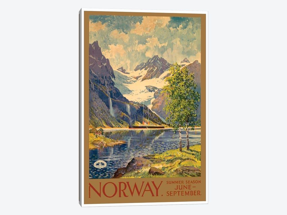 Norway: Summer Season, June-September by Unknown Artist 1-piece Canvas Artwork