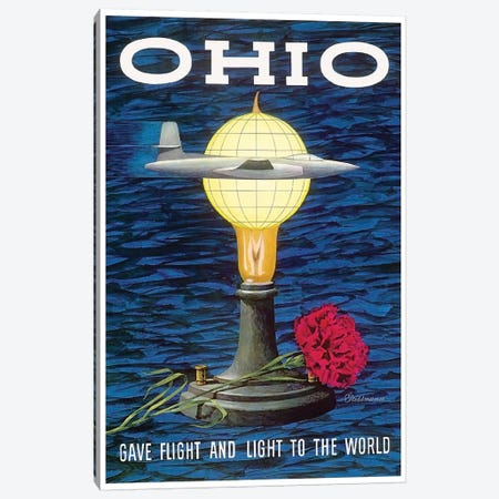 Ohio: Gave Flight And Light To The World Canvas Print #LIV243} by Unknown Artist Canvas Art