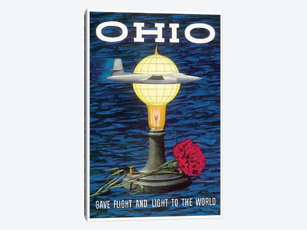 Ohio: Gave Flight And Light To The World by Unknown Artist 1-piece Canvas Print