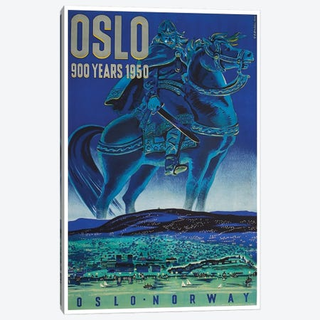 Oslo, Norway: 900 Years 1950 Canvas Print #LIV244} by Unknown Artist Canvas Art Print