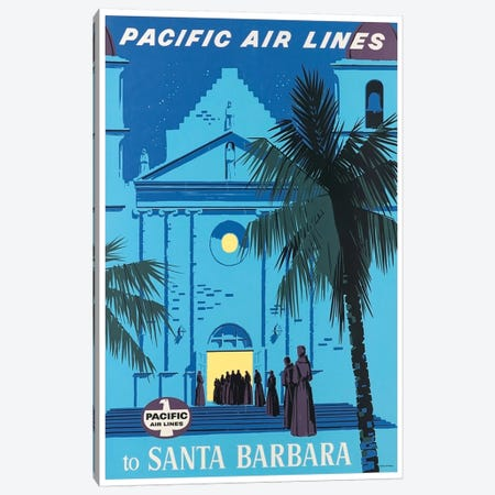 Pacific Airlines To Santa Barbara Canvas Print #LIV245} by Unknown Artist Canvas Art Print