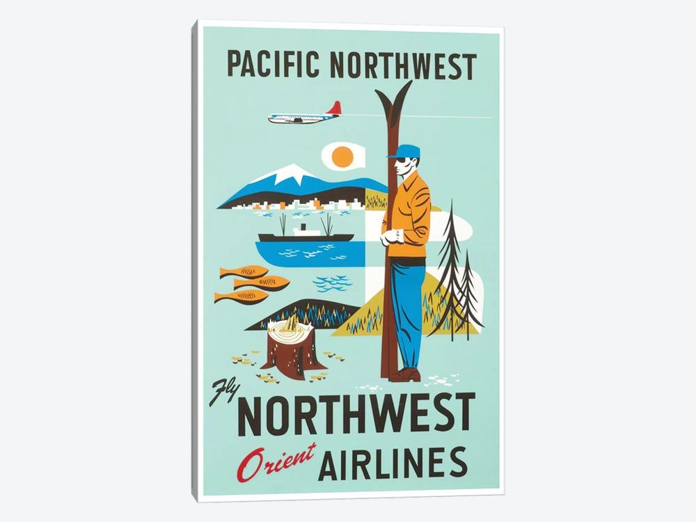 Pacific Northwest - Fly Northwest Orient Airlines by Unknown Artist 1-piece Canvas Art