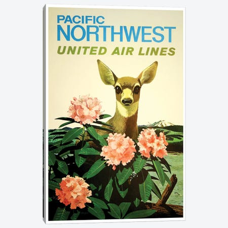 Pacific Northwest United Air Lines Canvas Print #LIV248} by Unknown Artist Canvas Artwork