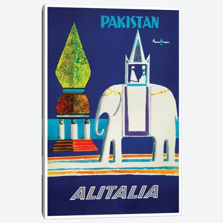 Pakistan - Alitalia  Canvas Print #LIV249} by Unknown Artist Canvas Art