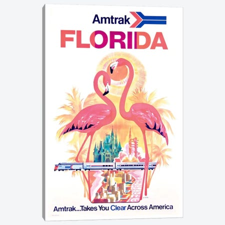 Amtrak Florida Canvas Print #LIV24} by Unknown Artist Canvas Art Print