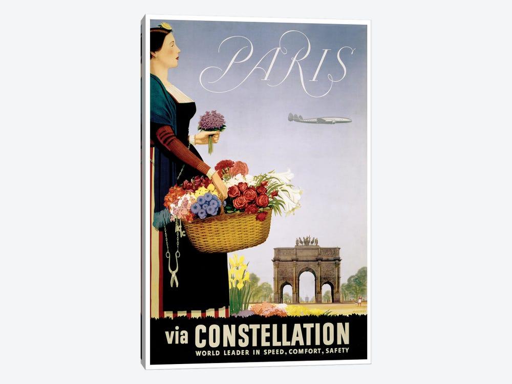 Paris Via Constellation by Unknown Artist 1-piece Canvas Art Print