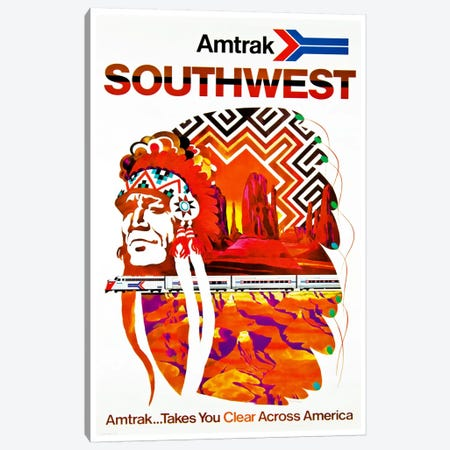 Amtrak Southwest Canvas Print #LIV25} by Unknown Artist Art Print