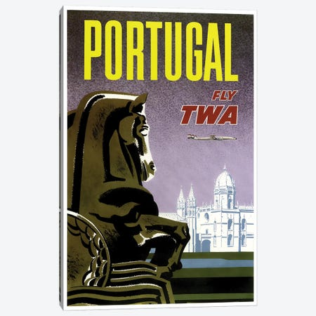 Portugal - Fly TWA Canvas Print #LIV266} Canvas Art Print