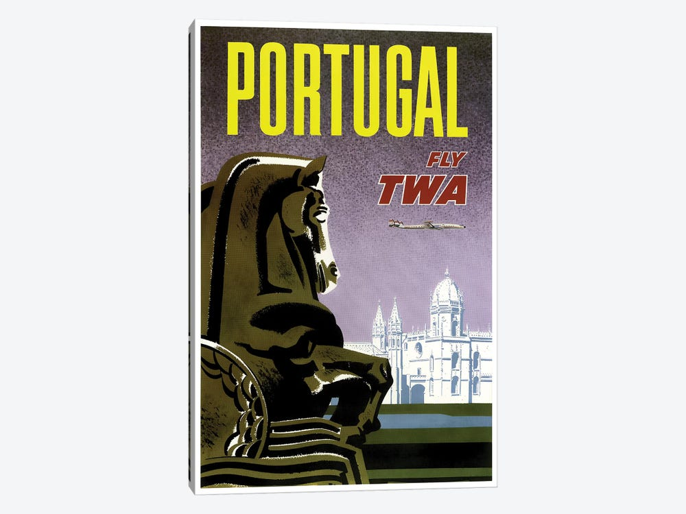 Portugal - Fly TWA 1-piece Canvas Wall Art
