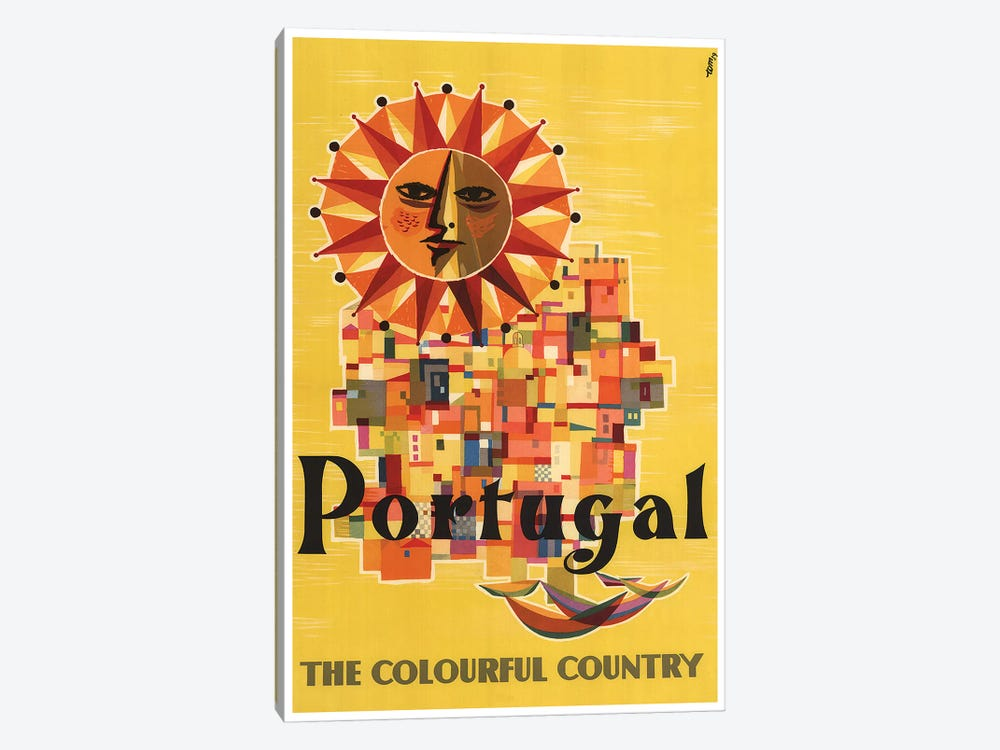 Portugal: The Colorful Country by Unknown Artist 1-piece Art Print