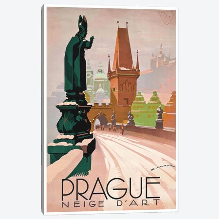 Prague: Neige d'Art Canvas Print #LIV268} by Unknown Artist Canvas Artwork