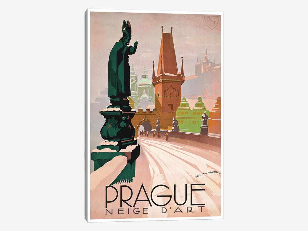 Prague: Neige d'Art 1-piece Canvas Artwork