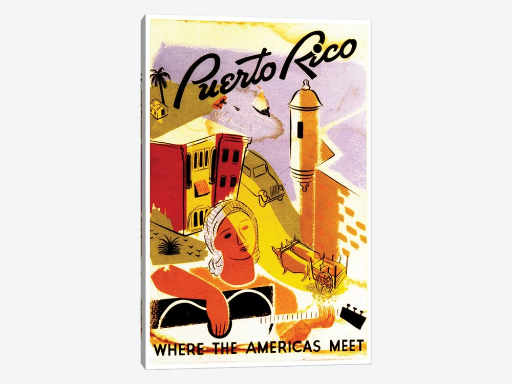 Puerto Rico: Where The Americas Meet II by Unknown Artist 1-piece Canvas Wall Art