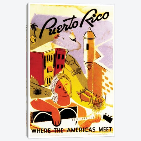 Puerto Rico: Where The Americas Meet II Canvas Print #LIV271} by Unknown Artist Art Print