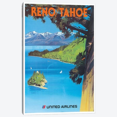 Reno/Tahoe - United Airlines Canvas Print #LIV273} by Unknown Artist Canvas Art Print