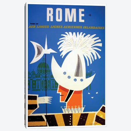 Rome - By Aer Lingus Canvas Print #LIV278} Canvas Print