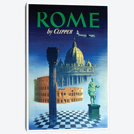 Rome - By Clipper Canvas Print #LIV279} by Unknown Artist Art Print