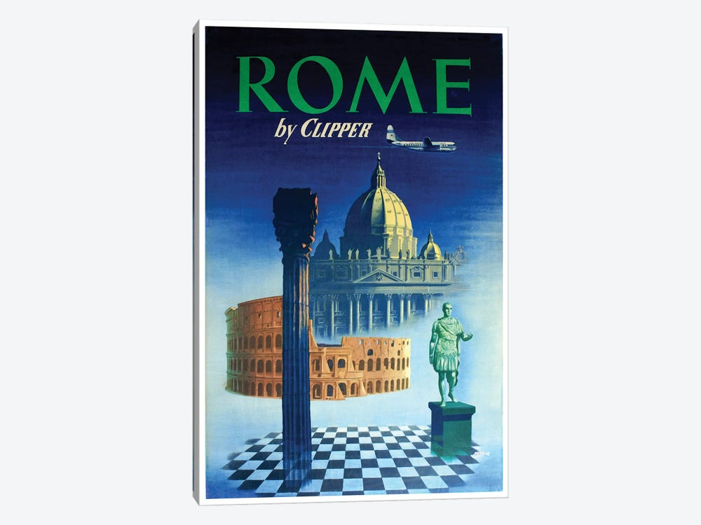 Rome - By Clipper 1-piece Canvas Art