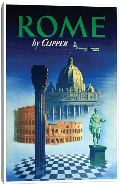 Rome - By Clipper Canvas Art Print