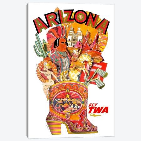 Arizona - Fly TWA I Canvas Print #LIV27} by Unknown Artist Canvas Art Print