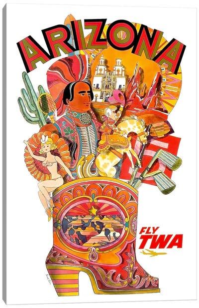 Arizona - Fly TWA Canvas Print #LIV27