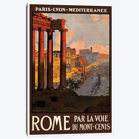 Rome Par La Voie Du Mont-Cenis Canvas Print #LIV280} by Unknown Artist Canvas Wall Art