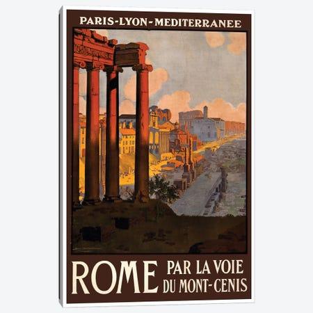 Rome Par La Voie Du Mont-Cenis Canvas Print #LIV280} by Unknown Artist Canvas Wall Art