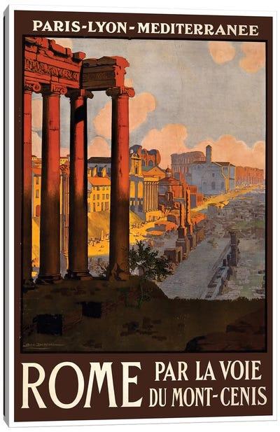 Rome Par La Voie Du Mont-Cenis Canvas Art Print