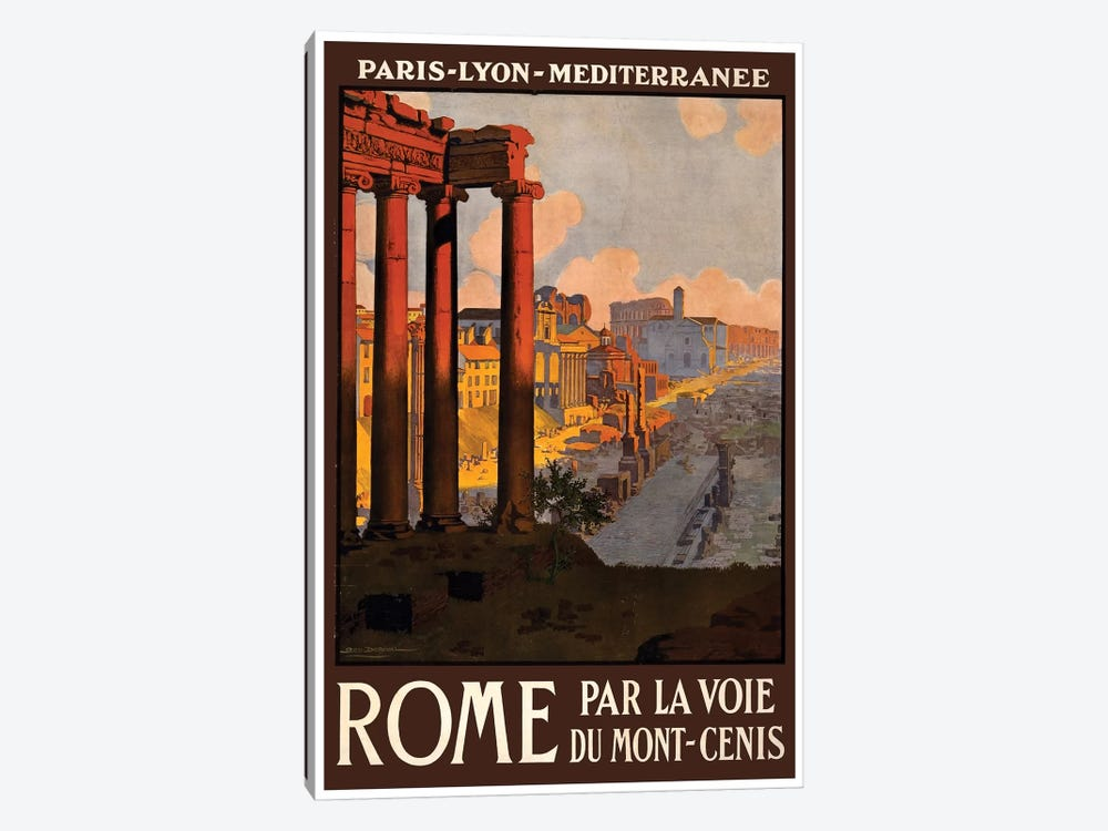 Rome Par La Voie Du Mont-Cenis by Unknown Artist 1-piece Canvas Art
