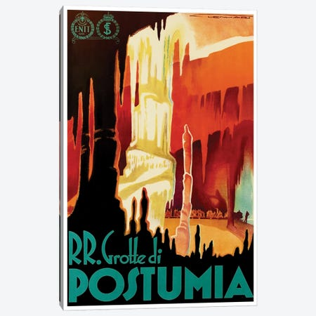 RR. Grotte di Postumia (Postojna Cave) Canvas Print #LIV281} by Unknown Artist Canvas Art