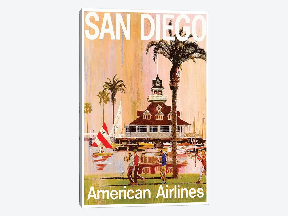 San Diego - American Airlines by Unknown Artist 1-piece Canvas Art Print