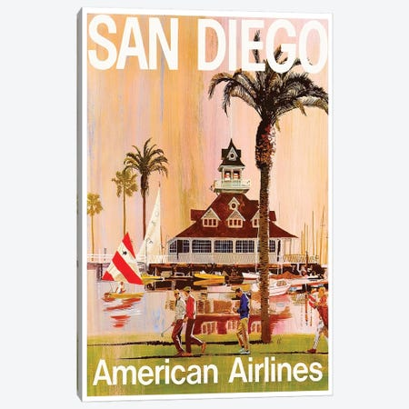 San Diego - American Airlines Canvas Print #LIV285} by Unknown Artist Art Print
