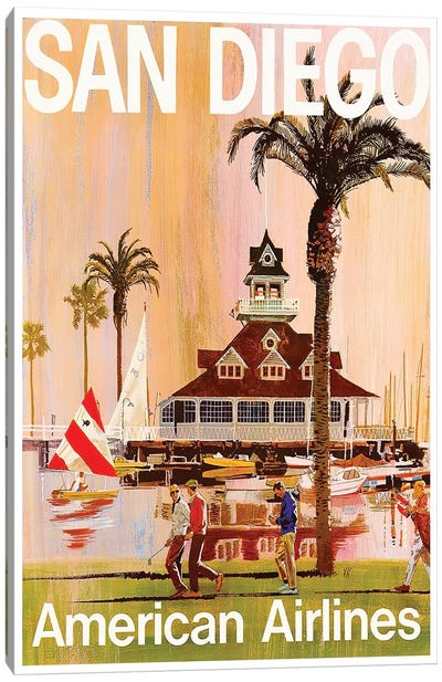 San Diego - American Airlines Canvas Art Print