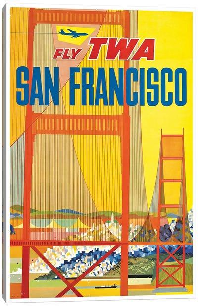 San Francisco - Fly TWA I Canvas Print #LIV287