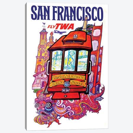 San Francisco - Fly TWA II Canvas Print #LIV288} by Unknown Artist Canvas Wall Art