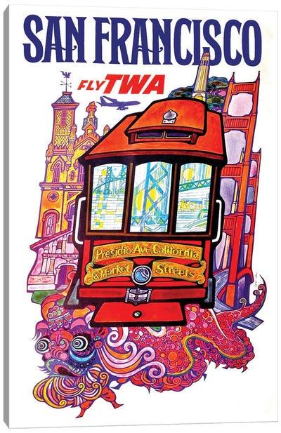 San Francisco - Fly TWA II Canvas Art Print
