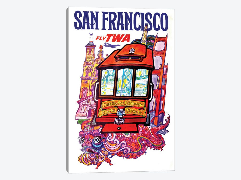 San Francisco - Fly TWA II by Unknown Artist 1-piece Canvas Artwork