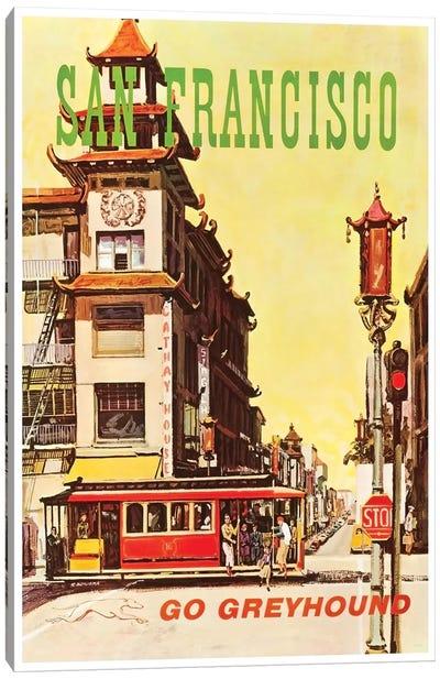 San Francisco - Go Greyhound Canvas Art Print