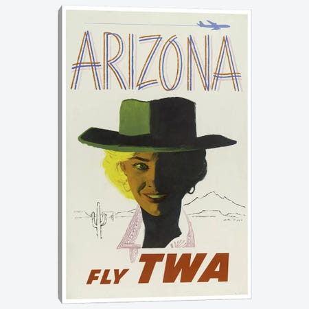 Arizona - Fly TWA II Canvas Print #LIV28} Canvas Art