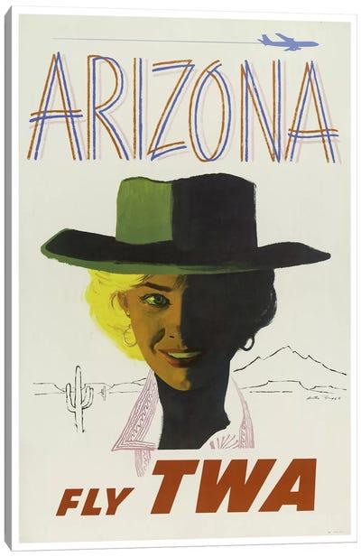 Arizona - Fly TWA Canvas Print #LIV28