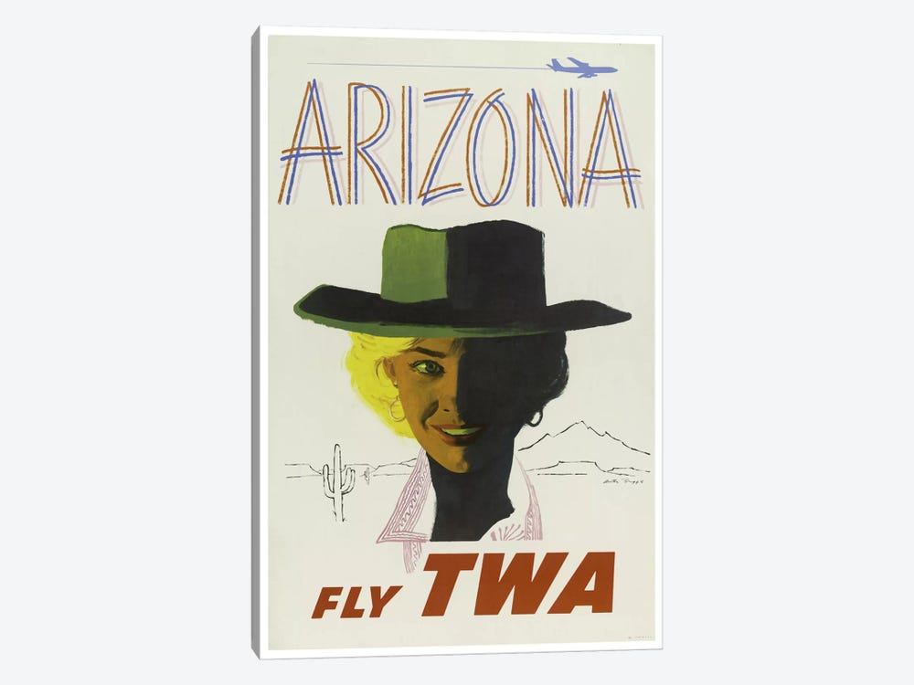 Arizona - Fly TWA II 1-piece Canvas Art