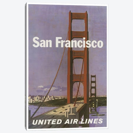 San Francisco - United Airlines Canvas Print #LIV291} by Unknown Artist Canvas Art Print