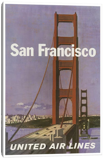 San Francisco - United Airlines Canvas Art Print